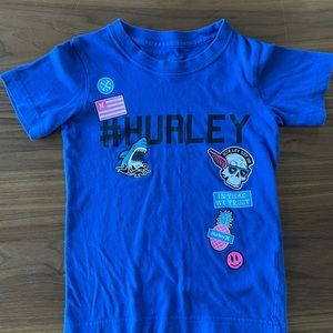 T-shirt Hurley 💀🦈 Size 3-4  🍍💙